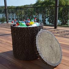 this cooler looks like a tree stump