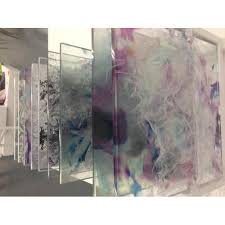 10 50 square feet design printed toughened glass shape flat