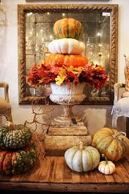 Cheap easy fall decorating ideas Gourds Via Homebunch Easy Thanksgiving Decorating Ideas Home Bunch Interior Design Ideas