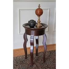 wood end table home accent living room furniture small
