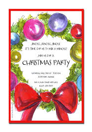 christmas holiday party and dinner invitation card design ideas to christmas invitations christmas party invitation card lovely wreath drawing and red bow and colorful