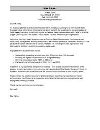 Simple Cover Letter Examples For Resume Best Outside Sales Representative Cover Letter Examples LiveCareer 87