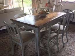 chic teak furniture shabby chic teak table with 6 individual upholstered chairs furniture furniture39 chic
