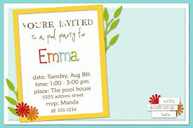 birthday party invitation exle