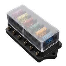waterproof 12v car audio video fuses holders 6 way fuse holder box car vehicle circuit bllse fuse box block fuse a6c1
