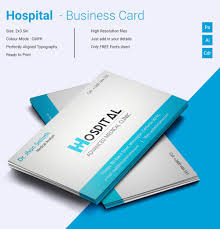 Business Card Template For Doctors Simple Hospital Business Card Template Free Premium Templates 1