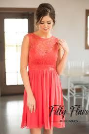 Best 25 Short Coral Bridesmaid Dresses Ideas On Pinterest Blush