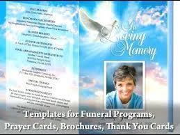 Unique Free Downloadable Funeral Program Templates Editable