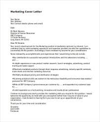 Cover Letter For Marketing Jobs 11 Marketing Cover Letter Templates Free Sample Example