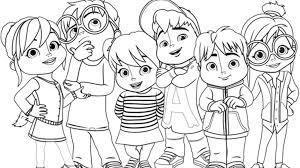 Disegni Da Colorare Di Alvin And The Chipmunks Migliori Pagine Da