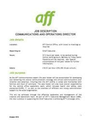 director job description comms ops director job description oct18 army families federation