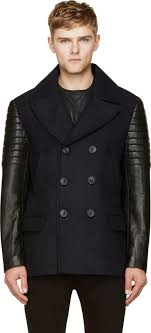 mackage navy wool clyde pea coat