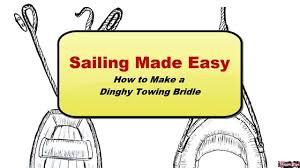 tow your sailboat dinghy with a bridle youtube wiring tow vehicle behind rv at Dinghy Towing Harness