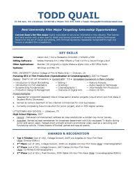 resume for film internship service resume resume for film internship internship resume examples internships resume sample film internship