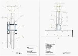 glass curtain wall section es
