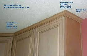 peaceful design ideas installing crown molding on kitchen cabinets within how to install crown molding on