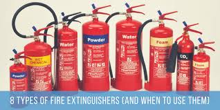 8 types of fire extinguisher and when to use them