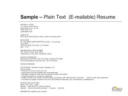 Plain Text Resume Template Text Resume Sample Com Sample Resume Downloadable Resume Text