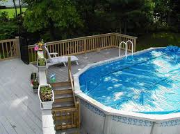 affordable above ground pool landscaping