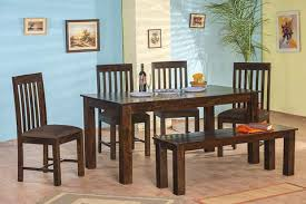 dining set wood. sale 6 seater with bench - walnut finish. 19 reviews. solid wood turner dining set a