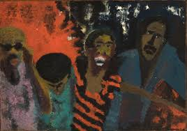 the fire next time 1968 vincent smith oil paint and sand