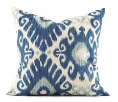 Designer Decorative Pillows For Couch Indigo Ikat Pillow 100x100 Pillow Cover Decorative Pillows Designer 48