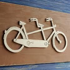 tandem bike metal wall art