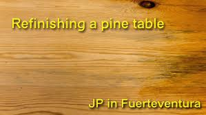 Refinish Kitchen Table Top How To Refinish A Pine Table Youtube