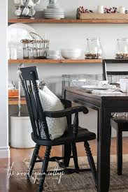 black dining room chair makeover by the wood grain cote