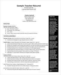 Resume Template Teacher Resume Sample Pdf Free Resume Template
