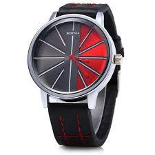rosivga 257 leather strap men quartz watch black in men s watches rosivga 257 leather strap men quartz watch black