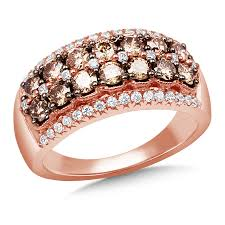 rose colored gold rings