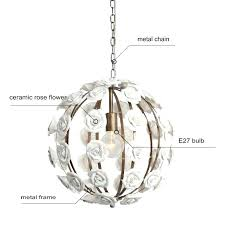 chandeliers flower pendant chandelier new design white color ceramic with led bulbs dinning room light