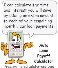 What Is Additional Principal Payment On Car Loan Auto Loan Payoff Calculator For Calculating Early Payoff Savings