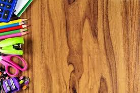 school desk background. Interesting Desk School Supplies Side Border On A Wooden Desk Background Stock Photo   59407842 In Desk Background E
