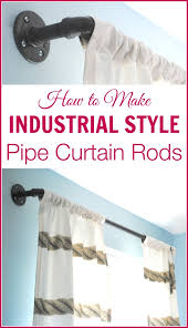 these diy industrial style curtain rods are a cinch to make and way er than