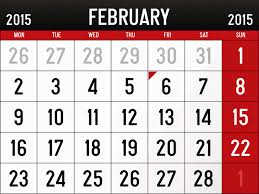 Online Calendar Template 2015 February 2015 Calendar Page Clipart Freeuse Library Rr Collections