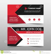 Red Corporate Business Card Name Card Template Horizontal