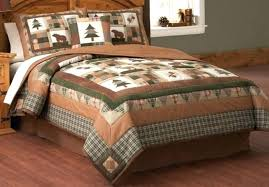 lodge quilts deer and cabin bedspreads rustic bedding quilt sets look