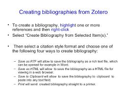 Reference Management tool: Zotero