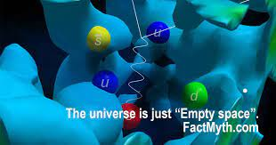 The Universe is Mostly Empty Space - Fact or Myth?