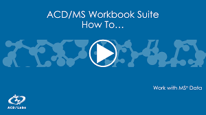 Ms Suite Expert Mass Spectrometry Software Acd Ms Workbook Suite