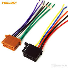 2019 feeldo car audio stereo wiring harness for volkswagen audi feeldo 2pcs car audio stereo wiring harness for volkswagen audi mercedes pluging into oem factory radio cd 1795