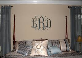 Initials 3 letter Metal Monogram- Powder Coat finish. Over 25 color choices  Wall Monogram