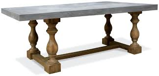 dining tables concrete top dining tables riverside furniture table with turned legs round