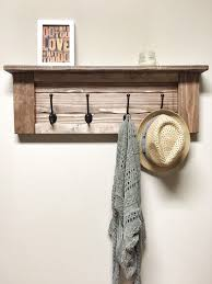 Wood Coat Racks Awesome Rustic Wooden Entryway Walnut Coat Rack Rustic Wooden Shelf
