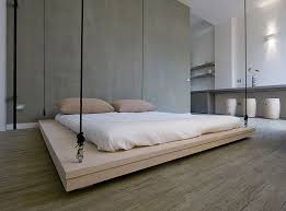 raised floor bed. Unique Bed In This Small Apartment The Bed Can Be Hoisted Up To Ceiling Make Intended Raised Floor Bed G