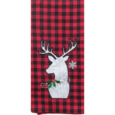 Dee Design Kitchens Kay Dee Designs Camp Christmas Moose Applique Tea Towel