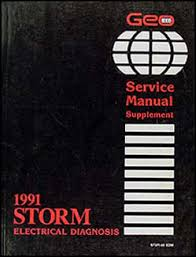 1991 geo storm electrical diagnosis manual original