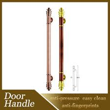 pull door handles. Commercial 600mm Rose Gold Exterior Pull Door Handles For Steel Entry Doors